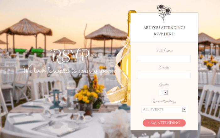 RSVP-wedding-website